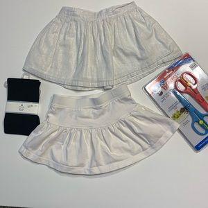 Tiny Notes food shears Baby Gap tights skirt skort